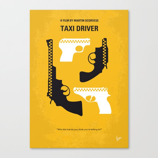 No087 My Taxi Driver minimal movie poster Canvas Print