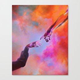 La Création d'Adam - Dorian Legret x AEFORIA Canvas Print