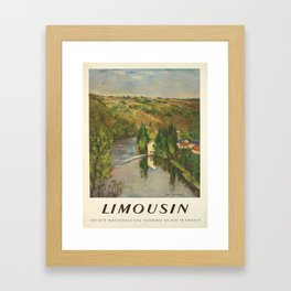 limousin societe nationale des vintage Poster Framed Art Print