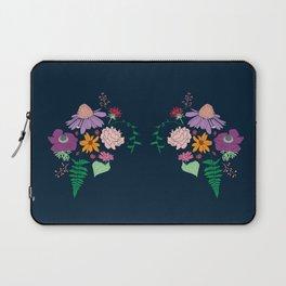 Floral Motif Bouquet Flower Illustration Laptop Sleeve