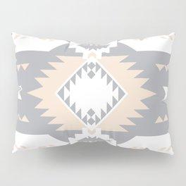 Southwestern Navajo Tribal, Gray, White, and Nude Blush Pillow Sham