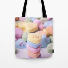 I Love You - Candy Hearts Tote Bag
