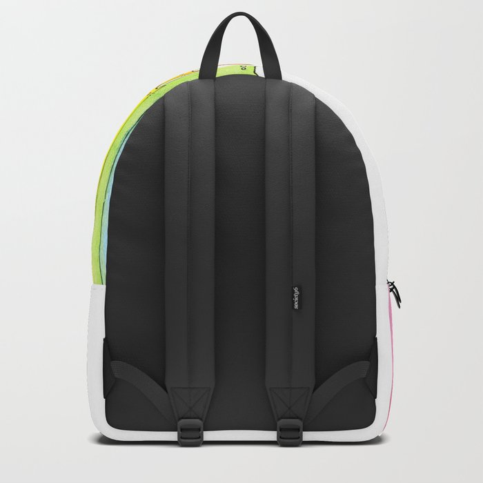 Cat Rainbow Watercolor Pattern Backpack