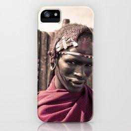 Maasai Warrior Ngorongoro 4117 iPhone Case