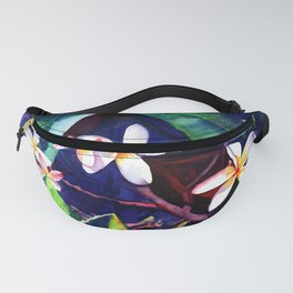 Blooming Plumeria Fanny Pack