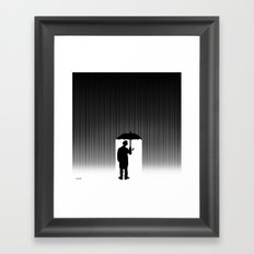 Charlie Chaplin Under The Rain Framed Art Print
