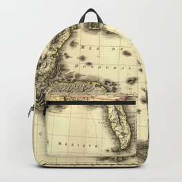 Vintage Map of The Caribbean (1806) Backpack