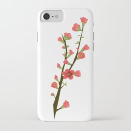 Flowering Quince Flowers iPhone Case