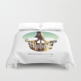 """""""Too much of anything is bad, but too much Champagne is just right"""" Duvet Cover"""