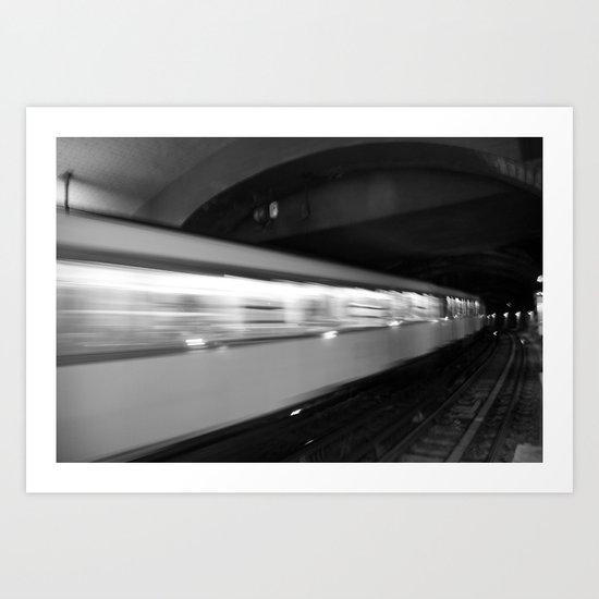 Metro in motion Art Print