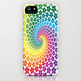 Rainbow Flowers iPhone Case