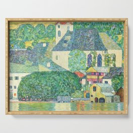 "Gustav Klimt ""Church in Unterach on the Attersee"" Serving Tray"