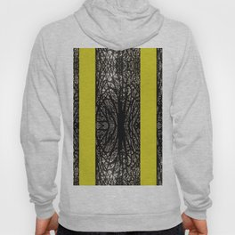 Gothic tree striped pattern mustard yellow Hoody