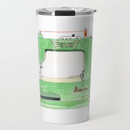Vintage Elna Grasshopper Sewing Machine Travel Mug