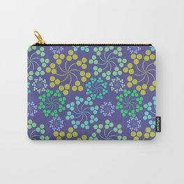 Fun Multicolored Whirligig Pattern Carry-All Pouch