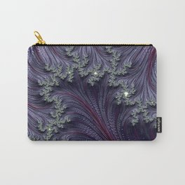 Purple Violet Wispy Feathery Elegant Fancy Beautiful 3D Swirling Flourish Abstract Fractal Art Carry-All Pouch