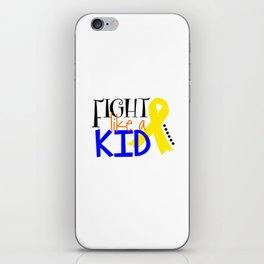 Children's Cancer Awareness Month Ribbon Fight Cancer Unisex Shirt iPhone Skin
