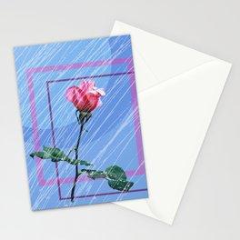 blue rain day Stationery Cards
