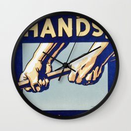 Protect Your Hands Wall Clock