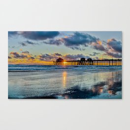 Surf City Sunset  11/15/15   Canvas Print