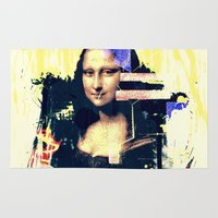 mona lisa Area & Throw Rugs featuring mona lisa by manish mansinh