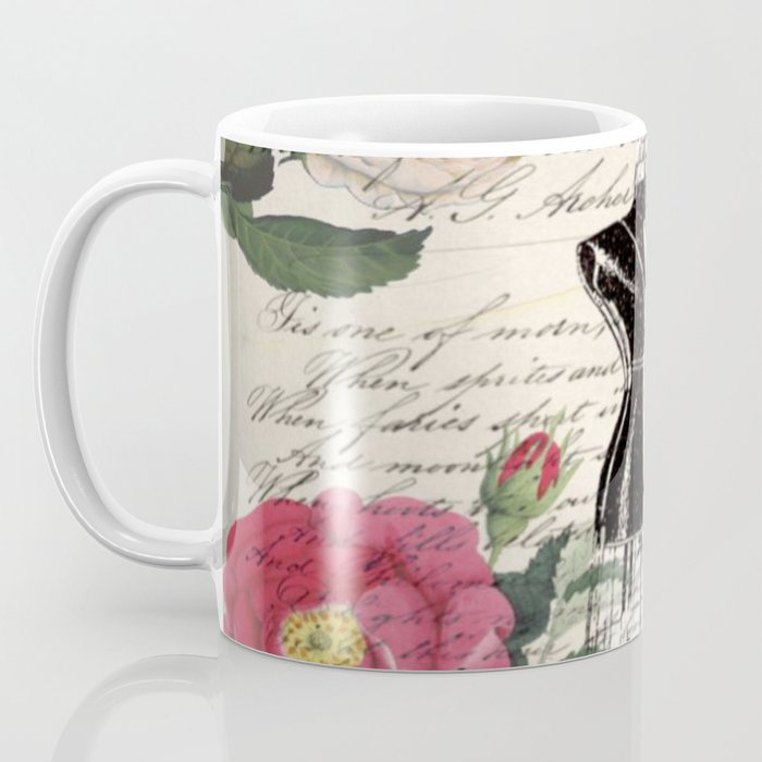 french country rose floral modern vintage dress mannequin paris fashion Coffee Mug