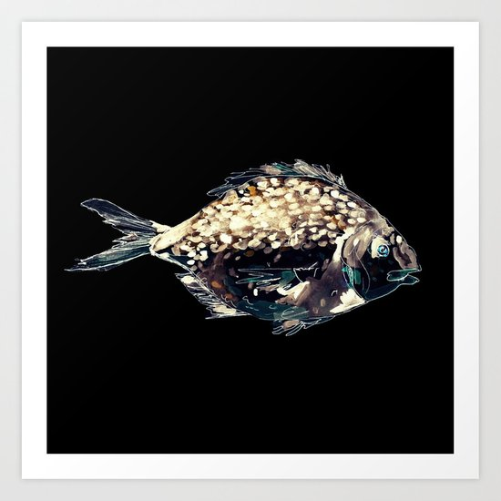 Fairytale Fish Glowing Version Art Print
