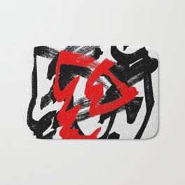 Black and red Bath Mat