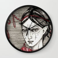 dragon ball Wall Clocks featuring Merrill: ball of twine  by Anca Chelaru
