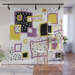 fuzzy rectangles Wall Mural