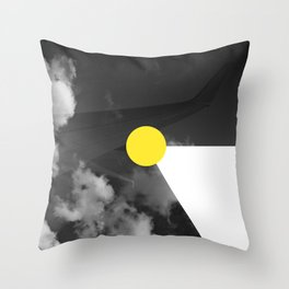 Night Flight Yellow Throw Pillow