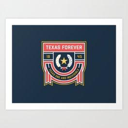 Texas Forever Seal Art Print