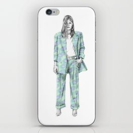 Balmain print suit iPhone Skin