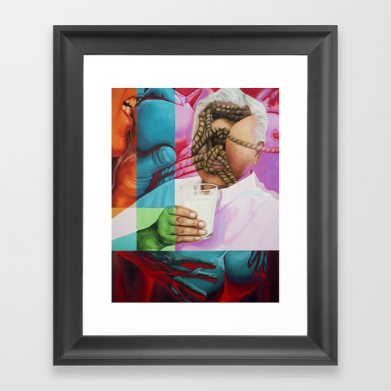 Daddy Wants Milk Framed Art Print