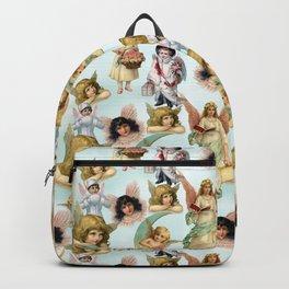 Vintage Angels on High Original Collage Backpack