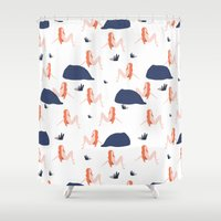 naked Shower Curtains featuring Naked by .eg.