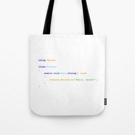 C# Hello World Tote Bag