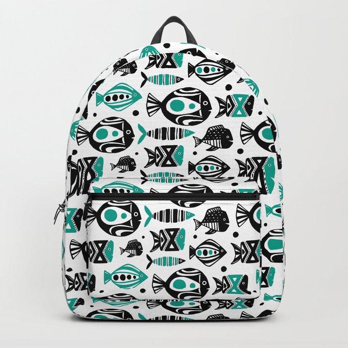 Deep Sea White Backpack