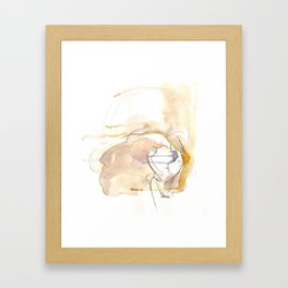 Cloud Mouth: Lavender and Yellow Framed Art Print