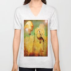 Hot-air balloons animal in Moscow Unisex V-Neck