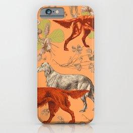 Irish Red Setter Dogs Pattern iPhone Case