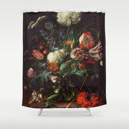 Jan Davidsz de Heem - Vase of Flowers Shower Curtain