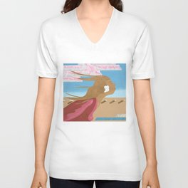In The Wind Unisex V-Neck