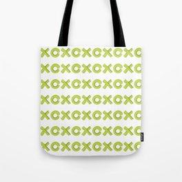 XoXo Pattern Brush Graphic Artwork Greenery Love Tote Bag