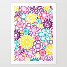 BOLD & BEAUTIFUL blooms Art Print