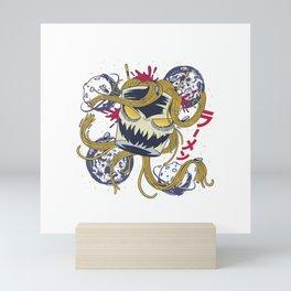 Ramen Lover Saimin Noodle Monster Kanji T-Shirt Mini Art Print