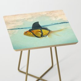 Brilliant DISGUISE - Goldfish with a Shark Fin Side Table