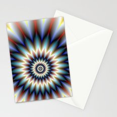 Red White and Blue Flower Stationery Cards