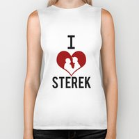 sterek Biker Tanks featuring I love Sterek by JulietteGD