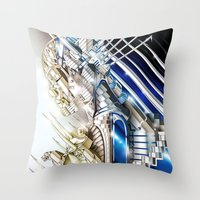 sci fi Throw Pillows featuring Sci-Fi Series 1 by eos vector
